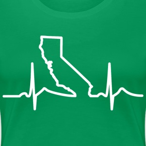 California Heart Beat Clothing Apparel Shirt Women's T-Shirts - Women's Premium T-Shirt