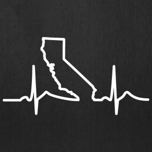 California Heart Beat Clothing Apparel Shirt Bags & backpacks - Tote Bag