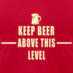 BEER LEVEL T-Shirts - Men's T-Shirt by American Apparel