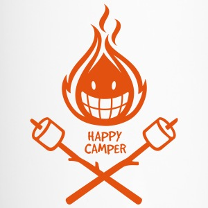 Happy Camper 1-color Bottles & Mugs - Travel Mug