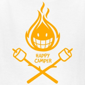 Happy Camper 1-color Kids' Shirts - Kids' T-Shirt