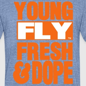 YOUNG FLY FRESH & DOPE T-Shirts - Unisex Tri-Blend T-Shirt by American Apparel