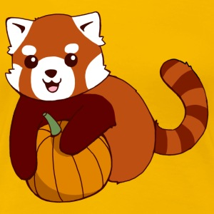 Pumpkin Red Panda - Women's Premium T-Shirt