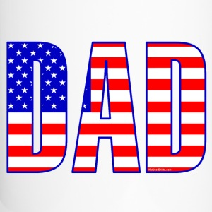 Dad Flag Text  Bottles & Mugs - Travel Mug