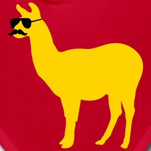 Funny llama with sunglasses and mustache Caps - Bandana