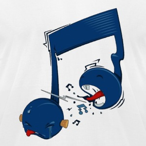 Screaming music note T-Shirts - Men's T-Shirt by American Apparel