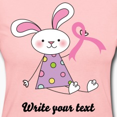 Breast Cancer Ribbon Bunny Long Sleeve Shirts
