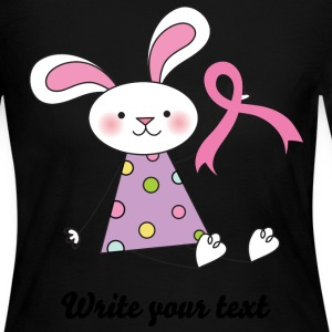 Breast Cancer Ribbon Bunny Long Sleeve Shirts - Women's Long Sleeve Jersey T-Shirt