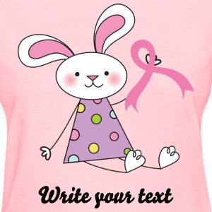 Breast Cancer Ribbon Bunny Women's T-Shirts - Women's T-Shirt