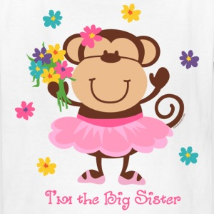 Monkey Big Sister Kids' Shirts - Kids' T-Shirt