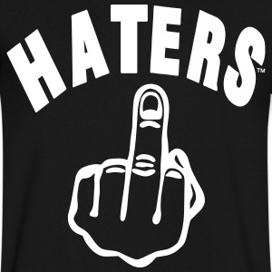 HATERS FUCK YOU T-Shirts - Men's V-Neck T-Shirt by Canvas