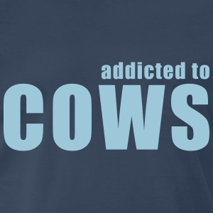 addicted to  cows T-Shirts - Men's Premium T-Shirt