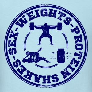 sex_weights_and_protein_shakes T-Shirts - Men's T-Shirt