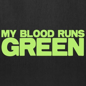 MY blood runs green Bags & backpacks - Tote Bag