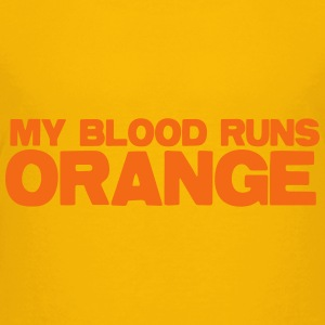 MY blood runs ORANGE Kids' Shirts - Kids' Premium T-Shirt