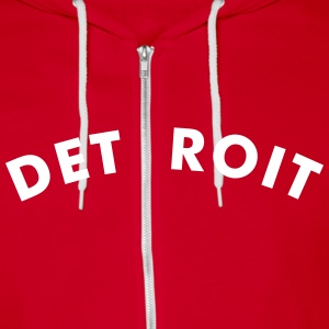 DETROIT - Unisex Fleece Zip Hoodie by American Apparel