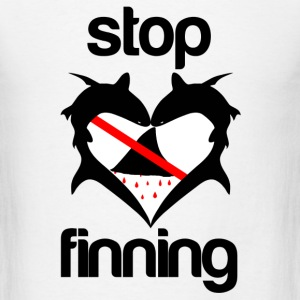 Stop Shark Finning  - Men's T-Shirt