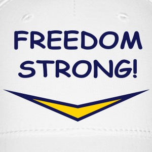 Freedom Strong in blue, vector Caps - Baseball Cap
