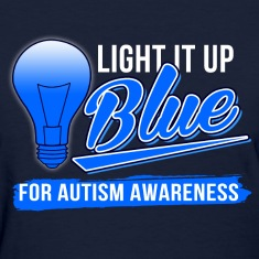 light_it_up_blue_for_autism_awareness Women's T-Shirts