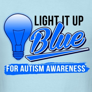 light_it_up_blue T-Shirts - Men's T-Shirt
