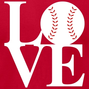 Baseball Love Art T-Shirts - Men's T-Shirt by American Apparel