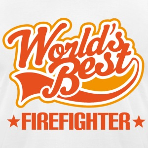 World's Best Firefighter T-Shirts - Men's T-Shirt by American Apparel