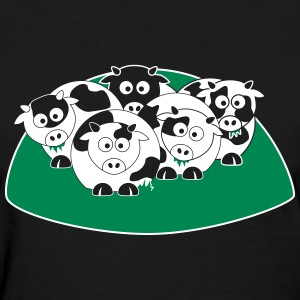 Herd of Cartoon Cows - Women's T-Shirt