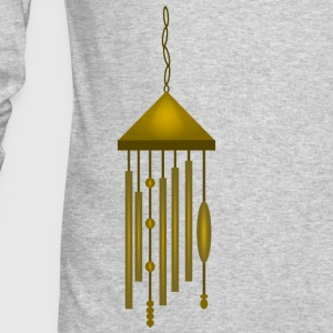 Big Bronze Wind Chime--DIGITAL DIRECT PRINT Long Sleeve Shirts - Men's Long Sleeve T-Shirt by Next Level