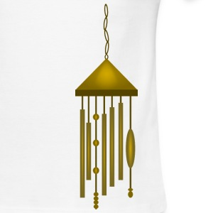 Big Bronze Wind Chime--DIGITAL DIRECT PRINT T-Shirts - Men's Ringer T-Shirt