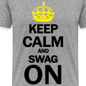 Keep Calm And Swag On T-Shirts - Men's Premium T-Shirt