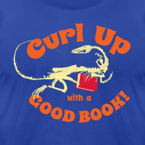 Coelophysis Dinosaur Literacy - Men's T-Shirt by American Apparel