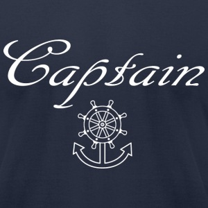 Nautical ship wheel and anchor T-Shirts - Men's T-Shirt by American Apparel