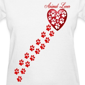 PAW PRINTS ON MY HEART - Women's T-Shirt