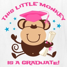 Girl Monkey Graduate Kids' Shirts