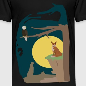 Silence Night by the Fox and the Eagle - Toddler Premium T-Shirt