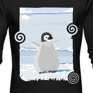 Penguin Kid - Men's Long Sleeve T-Shirt by Next Level