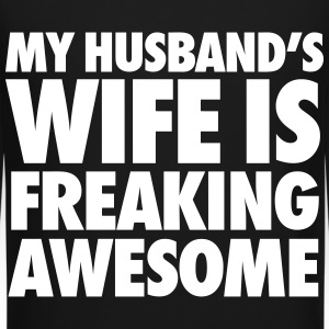 My Husband's Wife Is Freaking Awesome Long Sleeve Shirts - Crewneck Sweatshirt
