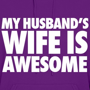 My Husband's Wife Is Awesome Hoodies - Women's Hoodie
