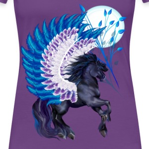 Blue Winged Pegasus - Women's Premium T-Shirt