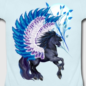 Blue Winged Pegasus - Short Sleeve Baby Bodysuit
