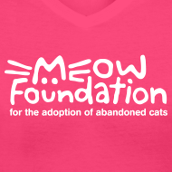 Design ~ MEOW Foundation V-Neck Tee