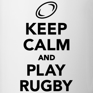 Keep calm and play Rugby Bottles & Mugs - Contrast Coffee Mug