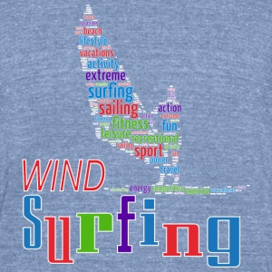 Windsurfing T-Shirts - Unisex Tri-Blend T-Shirt by American Apparel