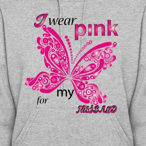 i wear pink for my husband  Hoodies - Women's Hoodie