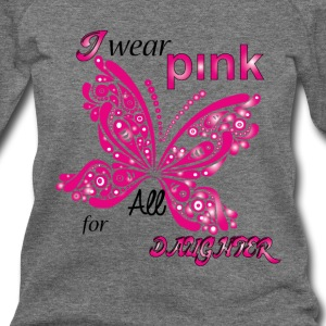i wear pink for my daughter Long Sleeve Shirts - Women's Wideneck Sweatshirt