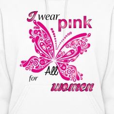 i wear pink for all women Hoodies