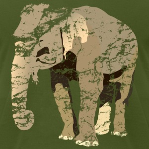 vintage elephant T-Shirts - Men's T-Shirt by American Apparel