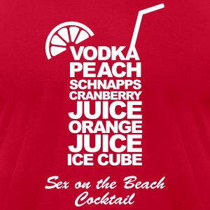 Sex on the beach cocktail T-Shirts - Men's T-Shirt by American Apparel