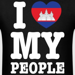 I Heart (Love) My Khmer People T-Shirts - Men's T-Shirt