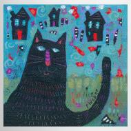 Design ~ Where Do You Live Little Black Cat Mug